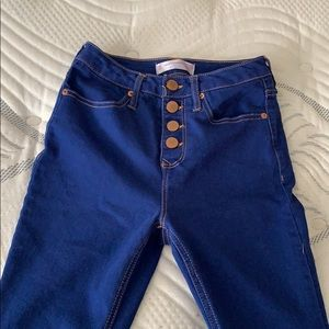 High Rise, Blue Jeans, Size 3